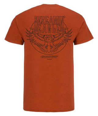 Harley-Davidson Mens Screamin' Eagle Concert Short Sleeve Tee, Orange HARLMT0283 - Wisconsin Harley-Davidson