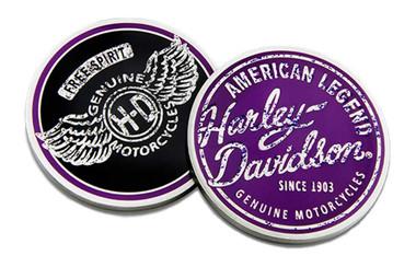 Harley-Davidson Free Spirit Challenge Coin, 1.75in Coin - Purple & Black 8008741 - Wisconsin Harley-Davidson