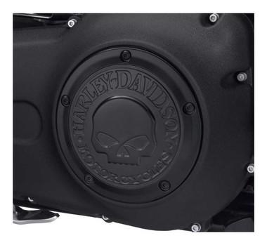 Harley-Davidson Willie G Skull Logo Derby Cover, Black Finish 25700742 - Wisconsin Harley-Davidson