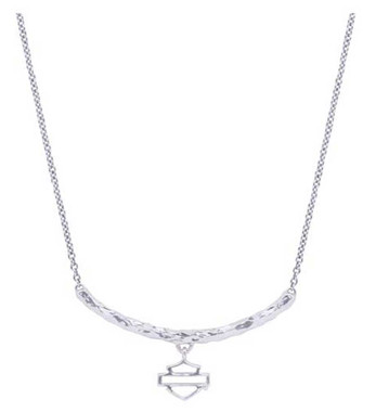 Harley-Davidson Women's H-D Delicate Bar & Shield Chain Necklace HDN0376 - Wisconsin Harley-Davidson