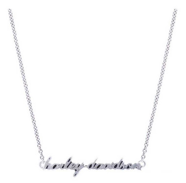 Harley-Davidson Women's H-D Delicate Cursive Script Chain Necklace HDN0375 - Wisconsin Harley-Davidson