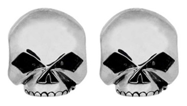 Harley-Davidson Women's Sterling Silver Skull Emblem Post Earrings HDE0377 - Wisconsin Harley-Davidson