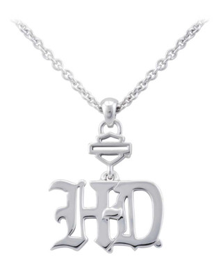 Harley-Davidson Women's H-D Old English Letter B&S Chain Necklace HDN0423 - Wisconsin Harley-Davidson