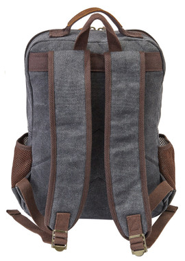 Harley-Davidson Mustang Vintage Leather & Heather Gray Backpack 99107 GRAY - Wisconsin Harley-Davidson