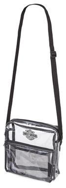 Harley-Davidson Clear Security Messenger Bag w/ Adjustable Strap 99662-CLEAR - Wisconsin Harley-Davidson