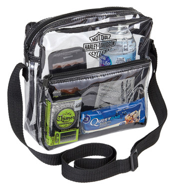 Harley-Davidson Clear Security Messenger Bag w/ Adjustable Strap 99662-CLEAR - Wisconsin Harley-Davidson