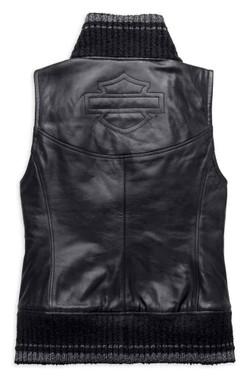 Harley-Davidson Women's Fawnridge Leather Vest w/ Satin Lining 97029-19VW - Wisconsin Harley-Davidson