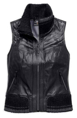 Harley-Davidson Women's Fawnridge Leather Vest w/ Satin Lining 97029-19VW - Wisconsin Harley-Davidson