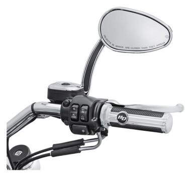 Harley-Davidson Defiance Hand Grips - Chrome Finish, Multi-Fit Item 56100158 - Wisconsin Harley-Davidson
