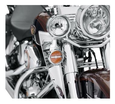 Harley-Davidson Fork-Mount Wind Deflector - Chrome, Multi-Fit Item 57400143 - Wisconsin Harley-Davidson