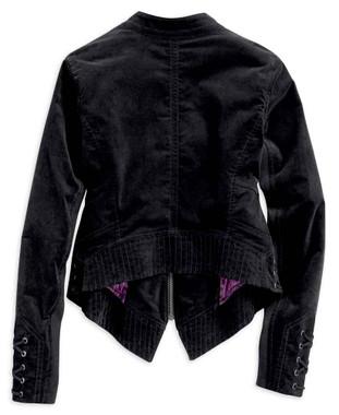 Harley-Davidson Women's Velour Casual Jacket w/ Sateen Lining, Black 96399-19VW - Wisconsin Harley-Davidson