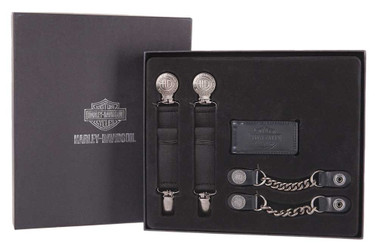 Harley-Davidson Men's Three Piece Rider Set - Antique Silver Finish HDMBS11598 - Wisconsin Harley-Davidson