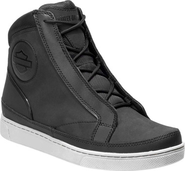 Harley-Davidson Women's Vardon 6.5-Inch Black Waterproof Riding Sneakers D87175 - Wisconsin Harley-Davidson
