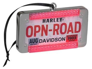 Harley-Davidson Winter LED License Plate Ornament w/ LED Brake Lights HDX-99135 - Wisconsin Harley-Davidson