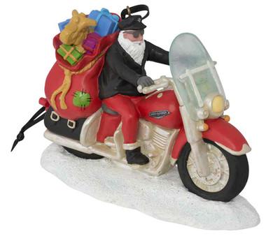 Harley-Davidson Winter Custom Painted Sculpted Biker Santa Ornament HDX-99131 - Wisconsin Harley-Davidson