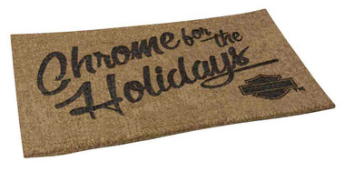 Harley-Davidson Chrome For The Holidays Entry Mat, 30 x 18 inches HDX-99115 - Wisconsin Harley-Davidson
