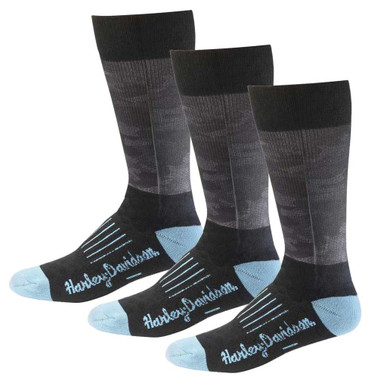 Harley-Davidson Women's Camo Performance Riding Socks, 3 Pairs D89227170-400 - Wisconsin Harley-Davidson