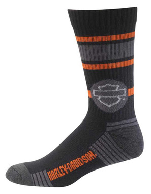 Harley-Davidson Wolverine Men's Retro Sport Riding Socks, Black D99226970-001 - Wisconsin Harley-Davidson