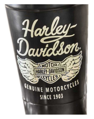 Harley-Davidson Heritage Stainless Steel Insulated Cup w/ Straw, Black & Silver - Wisconsin Harley-Davidson