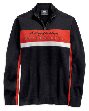 Harley-Davidson Women's 1/4 Zip Long Sleeve Colorblocked Ski Sweater 96392-19VW - Wisconsin Harley-Davidson
