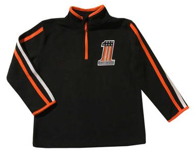 Harley-Davidson Little Boys' Embroidered Polar Fleece 1/4 -Zip, Black 6584825 - Wisconsin Harley-Davidson