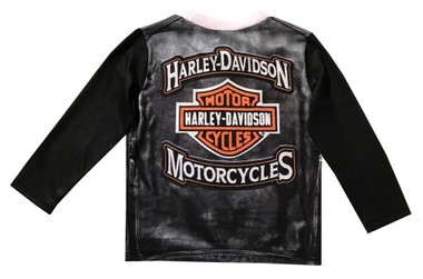 Harley-Davidson Little Boys' Knit Long Sleeve Toddler Tee, Black 1074807 - Wisconsin Harley-Davidson