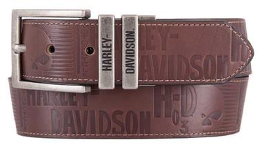 Harley-Davidson Men's U-Turn Reversible Genuine Leather Belt HDMBT11542 - Wisconsin Harley-Davidson