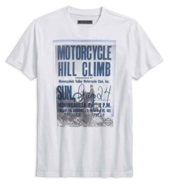 Harley-Davidson Men's Hill Climb Slim Fit Short Sleeve Tee, White 96230-18VM - Wisconsin Harley-Davidson