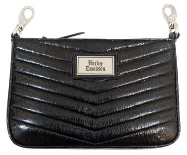 Harley-Davidson Women's Quilted Chevron Hip Bag w/ Strap CQ5547S-BLACK - Wisconsin Harley-Davidson