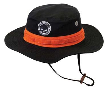 Harley-Davidson Men's Embroidered Willie G Boonie Cotton Twill Hat, Black HD-482 - Wisconsin Harley-Davidson