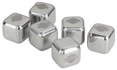 Harley-Davidson Stainless Steel Ice Cube Set, 6 Reusable Ice Cubes HDL-18581 - Wisconsin Harley-Davidson