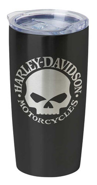 Harley-Davidson Core Willie G Skull Stainless Steel Travel Mug, Black HDX-98618 - Wisconsin Harley-Davidson