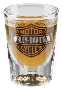 Harley-Davidson Core Bar & Shield Logo Shot Glass, 2 oz. - Clear HDX-98713 - Wisconsin Harley-Davidson