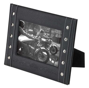 Harley-Davidson Bar & Shield Flames Picture Frame - Holds 4x6 Photo HDX-99139 - Wisconsin Harley-Davidson
