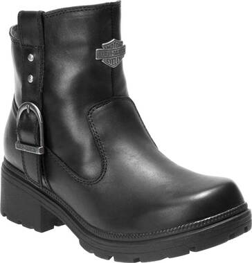 Harley-Davidson Women's Madera 5-Inch Black Casual Ankle Boots D84406 - Wisconsin Harley-Davidson