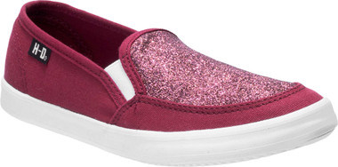 Harley-Davidson Women's Valwood Black or Wine Bongo Canvas Slip-Ons D84419 - Wisconsin Harley-Davidson