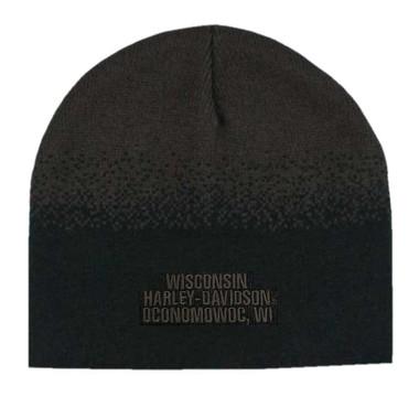 Harley-Davidson Men's Willie G Skull Knit Beanie Hat, Black & Brown KNCUS028239 - Wisconsin Harley-Davidson