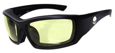 Harley-Davidson Men's Tat Skull Sunglasses, Yellow Lenses/Matte Frame HATAT11 - Wisconsin Harley-Davidson