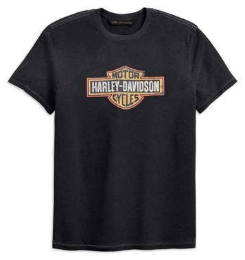 Harley-Davidson Men's Crackle Logo Slim Fit Short Sleeve Tee, Gray 99201-19VM - Wisconsin Harley-Davidson