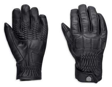 Harley-Davidson Women's Fairhaven Touchscreen Leather Gloves, Black 98328-19VW - Wisconsin Harley-Davidson