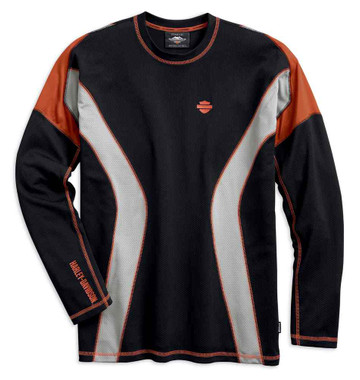 Harley-Davidson Men's Performance Long Sleeve Tee w/ Coolcore Tech 99198-19VM - Wisconsin Harley-Davidson