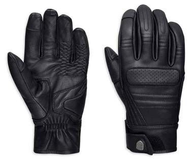 Harley-Davidson Men's Otsego Touchscreen Full-Finger Leather Gloves 98382-19VM - Wisconsin Harley-Davidson