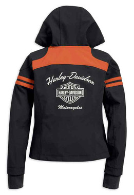 Harley-Davidson Women's Miss Enthusiast Soft Shell Jacket, Black 98408-19VW - Wisconsin Harley-Davidson