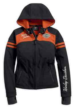 Harley-Davidson Women's Miss Enthusiast Soft Shell Jacket, Black 98408-19VW - Wisconsin Harley-Davidson