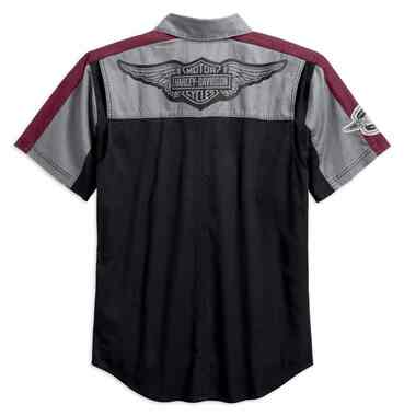 Harley-Davidson Men's Performance Vented Winged Logo Woven Shirt 99156-19VM - Wisconsin Harley-Davidson