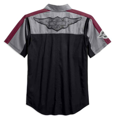 Harley-Davidson Men's Performance Vented Winged Logo Woven Shirt 99156-19VM - Wisconsin Harley-Davidson