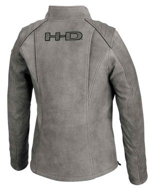 Harley-Davidson Women's Citified Mid-Weight Leather Jacket, Gray 98074-19VW - Wisconsin Harley-Davidson