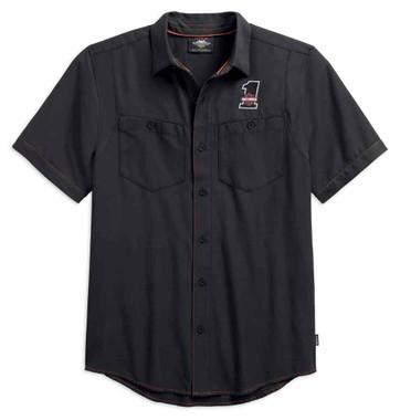 Harley-Davidson Men's Performance Woven Shirt w/ Coolcore Tech 99188-19VM - Wisconsin Harley-Davidson