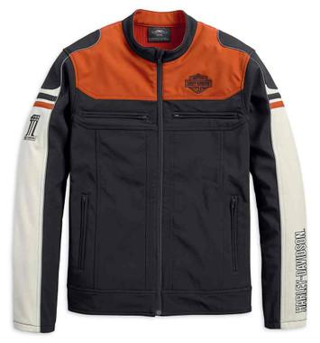 Harley-Davidson Men's Colorblocked Soft Shell Casual Jacket 98405-19VM - Wisconsin Harley-Davidson