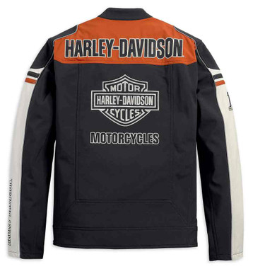 Harley-Davidson Men's Colorblocked Soft Shell Casual Jacket 98405-19VM - Wisconsin Harley-Davidson